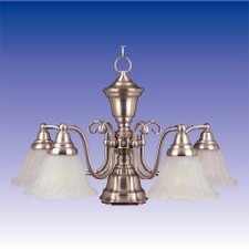 Newburg  Chandelier in Satin Nickel