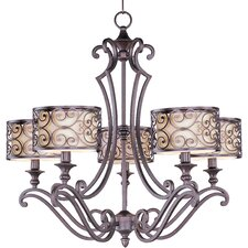 Timbora 5 - Light Single - Tier Chandelier