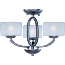 <strong>Maxim Lighting</strong> Elle 3 Light Semi Flush Mount