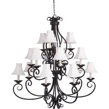 Tenor 9 - Light Multi - Tier Chandelier