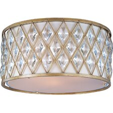 Diamond 3 Light Flush Mount