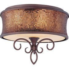 Deblen 3 - Light Semi - Flush Mount