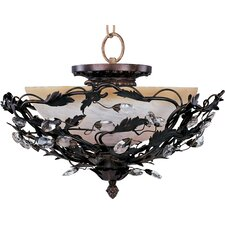 Elegante 3 Light Convertible Inverted Pendant