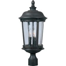 Dover DC 3 Light Outdoor Post Lantern