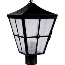 <strong>Maxim Lighting</strong> Castille 3 Light Outdoor Post Lantern