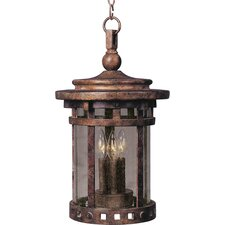 Santa Barbara Cast 3 Light Outdoor Hanging Lantern