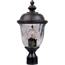 "Carriage House DC 1 Light 9"" Outdoor Post Lantern"