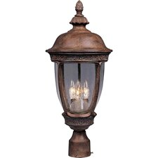Knob Hill DC 3 Light Outdoor Post Lantern