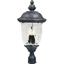 "Carriage House VX 3 Light 27"" Outdoor Post Lantern"