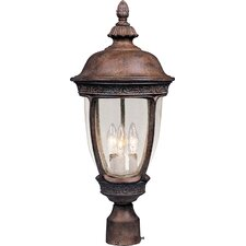 "Knob Hill VX 3 Light 23"" Outdoor Post Lantern"