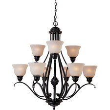 Linda 9 Light Chandelier - Energy Star