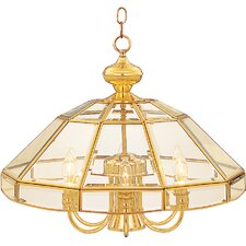 Bound Glass 7 Light Single-Tier Chandelier with Clear Glass