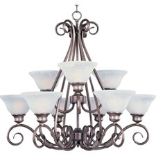 Pacific 9 Light Chandelier