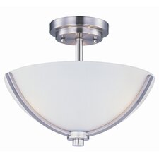<strong>Maxim Lighting</strong> Deven 3 Light Semi-Flush Mount