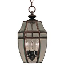 Canterbury 3 Light Outdoor Hanging Lantern