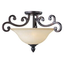 Hailee 3 - Light Semi - Flush Mount