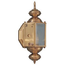 Builder Brass Outdoor Round Wall Lantern