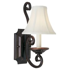 Manor 1 Light Candle Wall Sconce