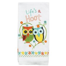 Life's A Hoot Terry Kitchen Towel