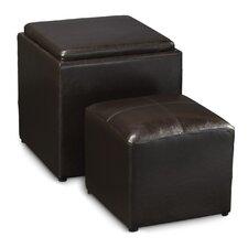 Designs4Comfort Park Avenue Cube Ottoman & Stool (Set of 2)