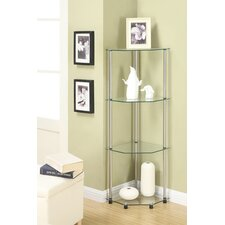 "13.75"" x 46.5"" Classic Four Tier Corner Shelf"