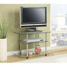 "<strong>Convenience Concepts</strong> Classic Glass 32"" TV Stand"