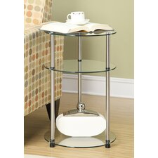 Classic Glass Three Tier End Table