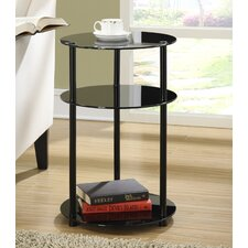 <strong>Convenience Concepts</strong> Midnight Three Tier End Table