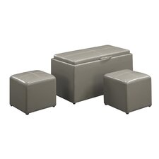 Designs 4 Comfort Sheridan 3 Piece Storage Ottoman Set