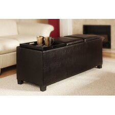 Designs 4 Comfort Tribeca Leather Ottoman in Espresso