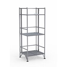 <strong>Convenience Concepts</strong> XTRA Storage 3 Tier Folding Shelf in Silver