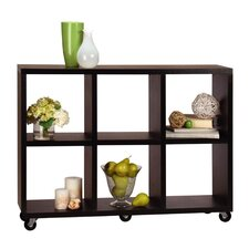 Northfield Rolling Room Divider / Bookcase