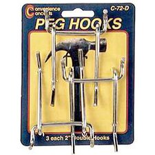 Double Straight Pegboard Hook