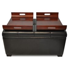 Designs 4 Comfort Double Tray Storage Ottoman