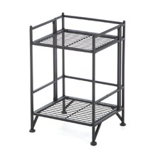 XTRA Storage 2 Tier Folding Shelf in Black