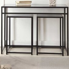 Designs2Go Classic Glass 3 Piece Console Table Set