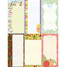 "8"" x 4"" Magnetic Kitchen Shopping List (Set of 72)"
