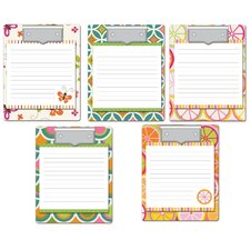 60 Sheet Clipboard and Assorted Note Paper Set