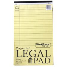 50 Sheets Perforated Legal Pad