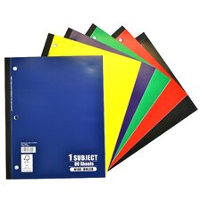 <strong>Norcom Inc</strong> 80 Sheets 1 Subject Wide Ruled Notebook