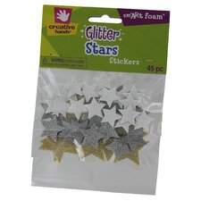 Glitter Star Stickers (45 Count) (Set of 3)
