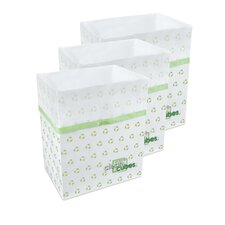 Recycle Pattern Trash Can and Recycling Bin (Set of 3)