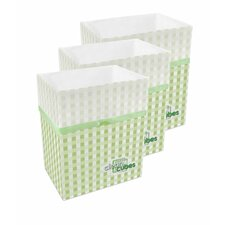 Picnic Pattern Trash Can and Recycling Bin (Set of 3)