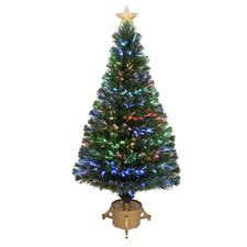 4' Green Artificial Christmas Tree with LED Light with Stand