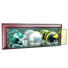 <strong>Perfect Cases</strong> Wall Mounted Triple Mini Football Display Case