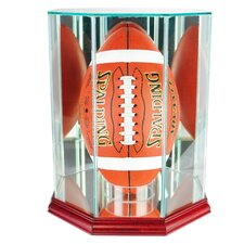 Upright Octagon Football Display Case