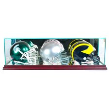 Triple Mini Football Helmet Display Case