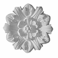 "Emery 7.63"" H x 7 5/8"" W x 1"" D Leaf Ceiling Medallion"