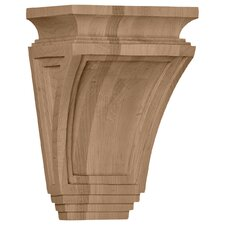 "<strong>Ekena Millwork</strong> Arts and Crafts 9"" H x 6"" W x 4"" D Corbel"