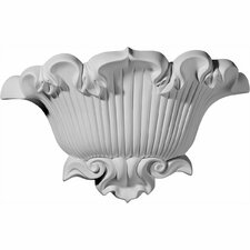 """Shell 9.63"""" H x 15"""" W x 4.63"""" D Wall Sconce"""